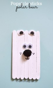 popsicle stick polar bear