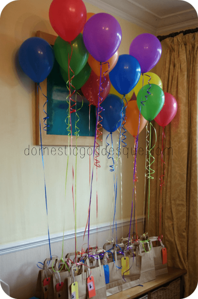 balloon party bags