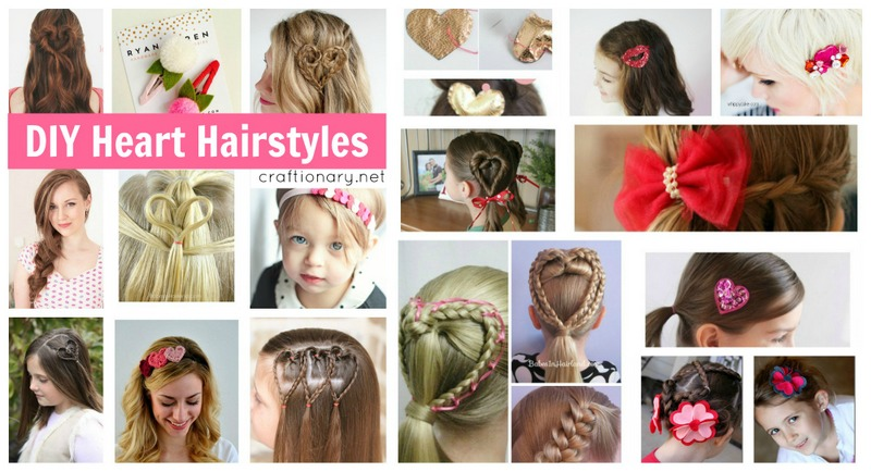 Valentines day heart hairstyles