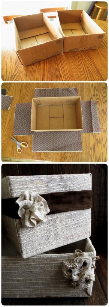 decorated baskets DIY
