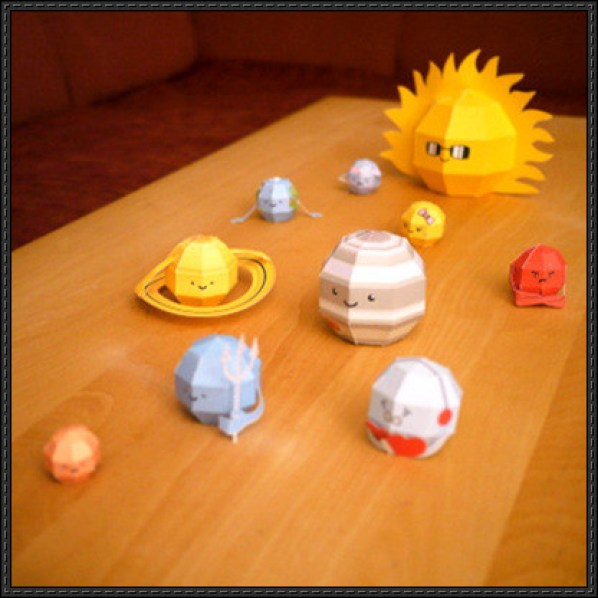 Paper craft for Kids Solar System
