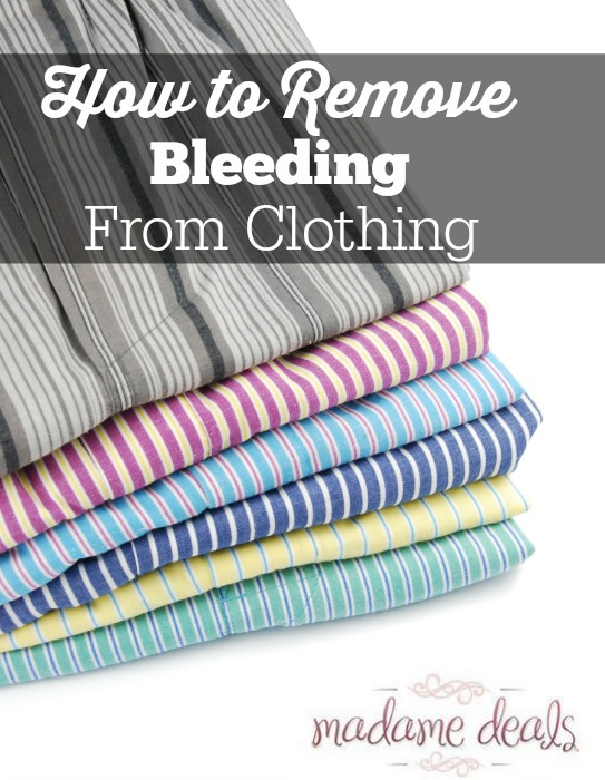 How to remove bleeding from clothes