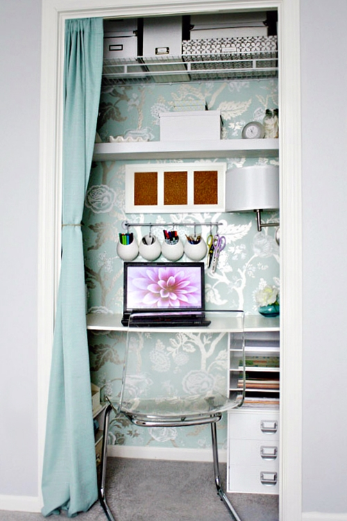 Closet homework station