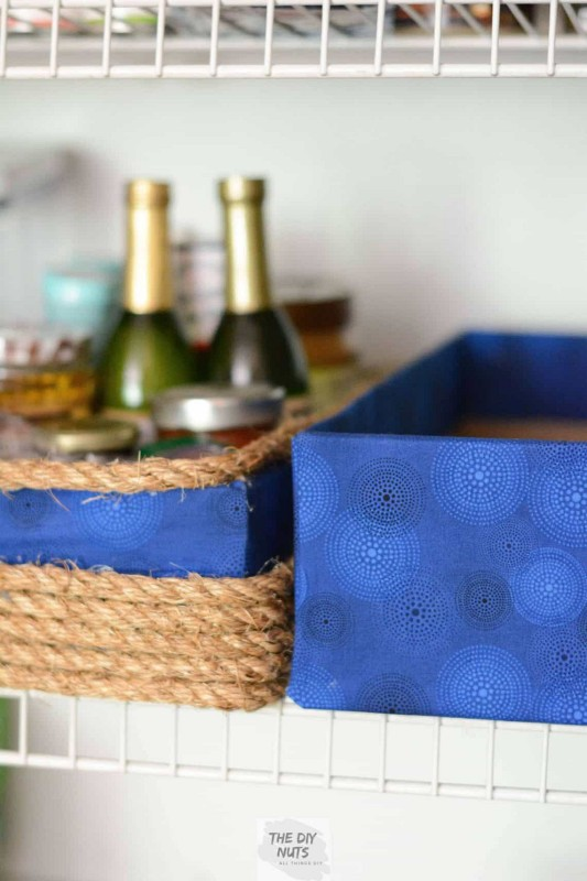 Blue-fabric-no-sew-DIY-storage-boxes-repurpose-old-cardboard-boxes