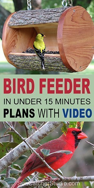 hanging-log-bird-feeder-plans