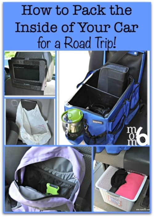 how to pack the inside of your car for a road trip