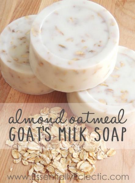 almond oatmeal goat's milk soap