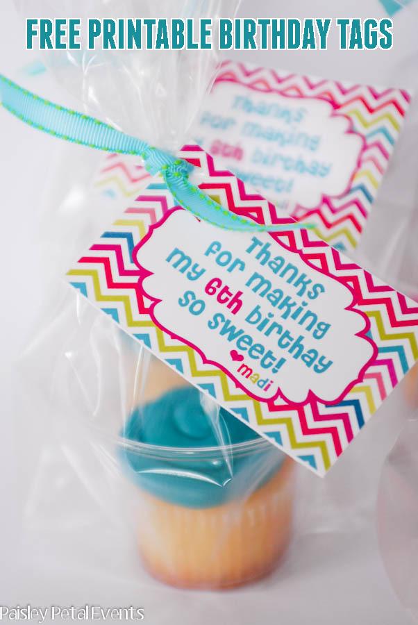birthday cupcakes tags