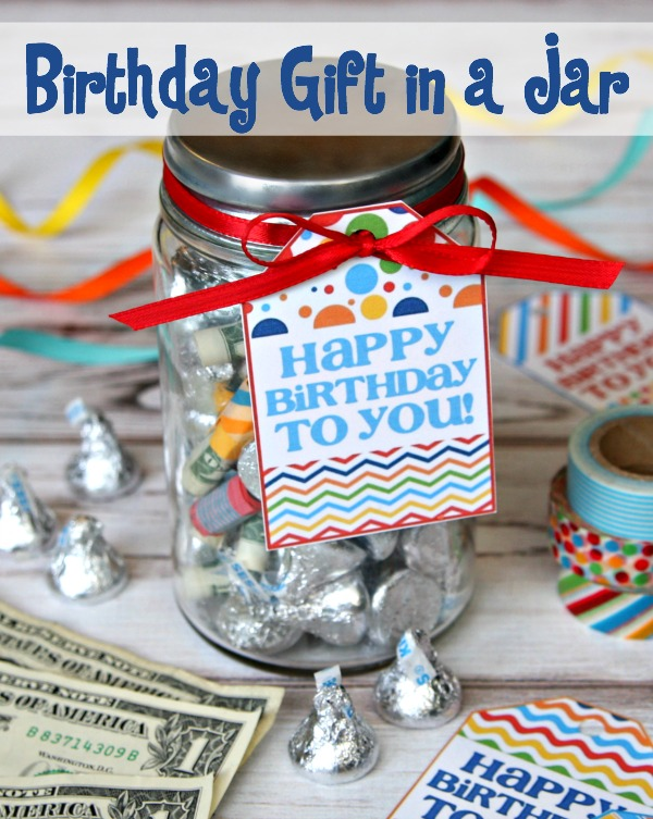 Gift in a jar printable tag