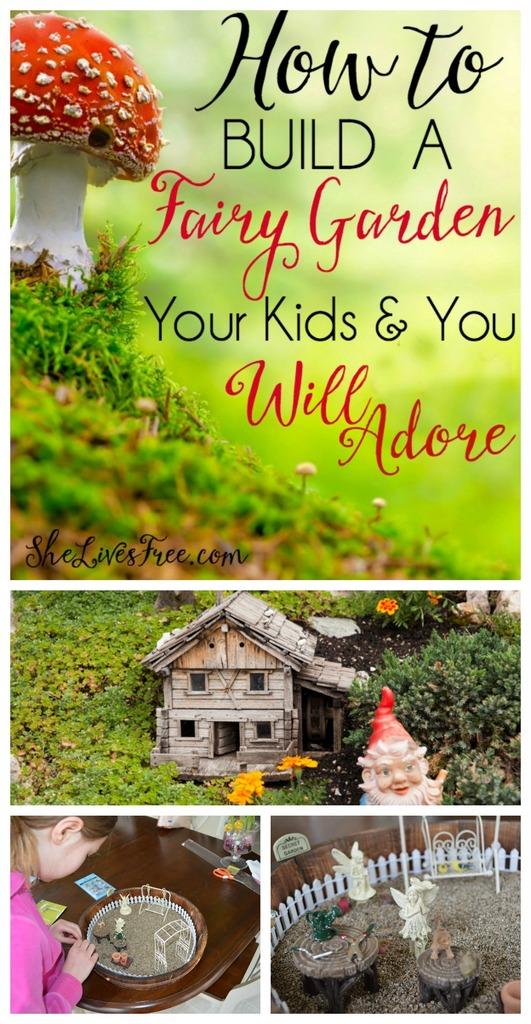 Build adorable fairy garden