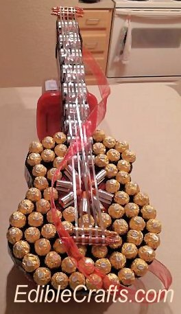 candy guitar gift for father