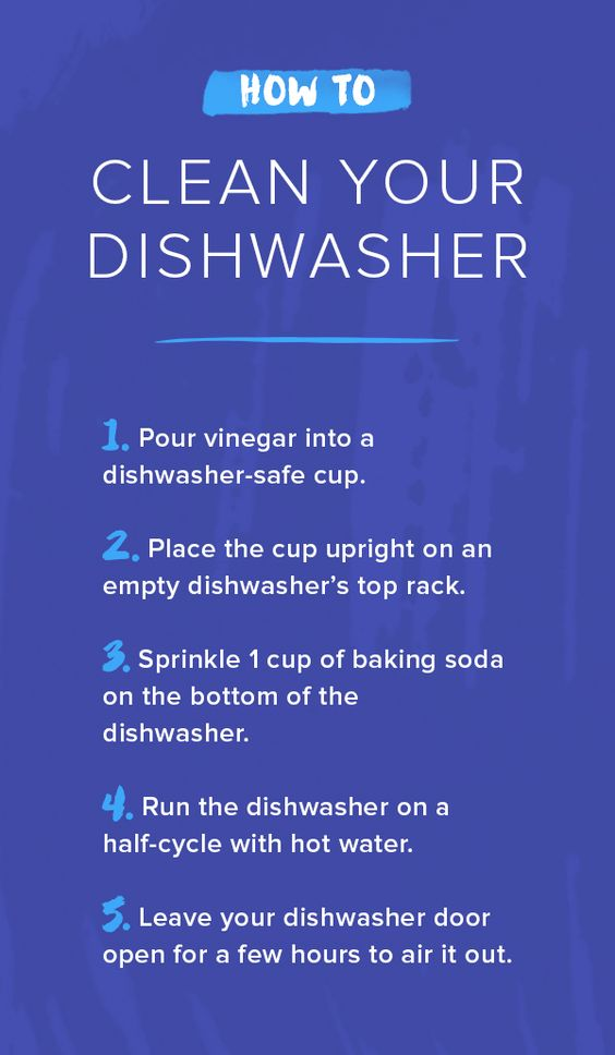 dishwasher cleaning tutorial