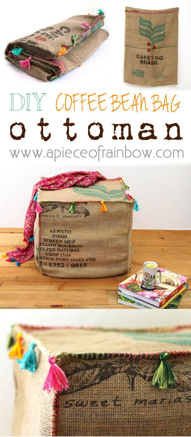 diy coffee bean bag ottoman