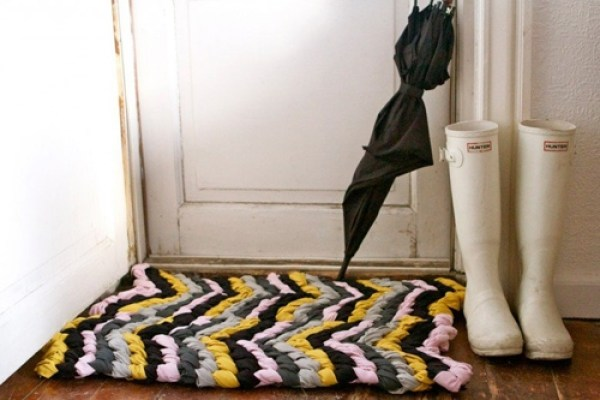 diy friendship bracelet chevron rug