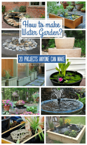 DIY water gardens make water fountains at home using material from lowes, home depot, amazon or walmart