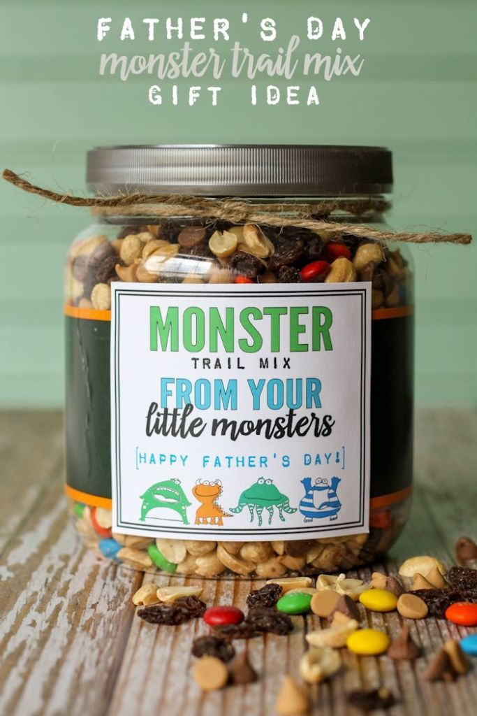 Father's day trail mix gift