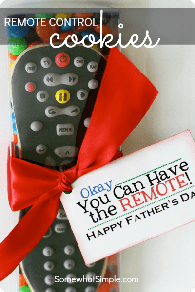 fathers day edible remote cookie
