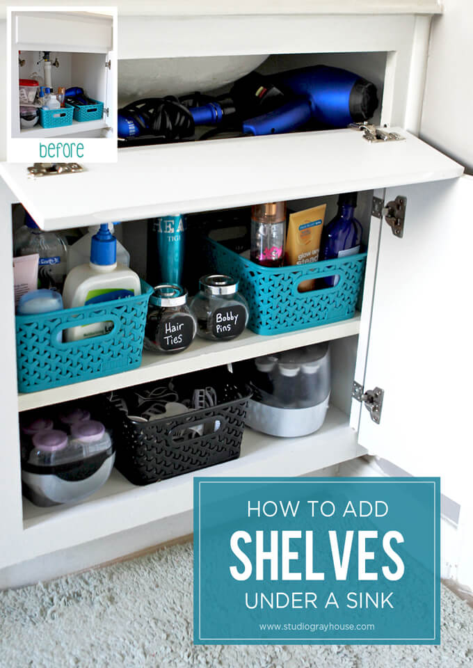 how-to-add-shelves-under-sink