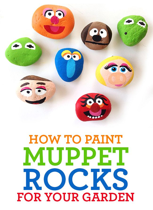 how to paint muppets on rocks