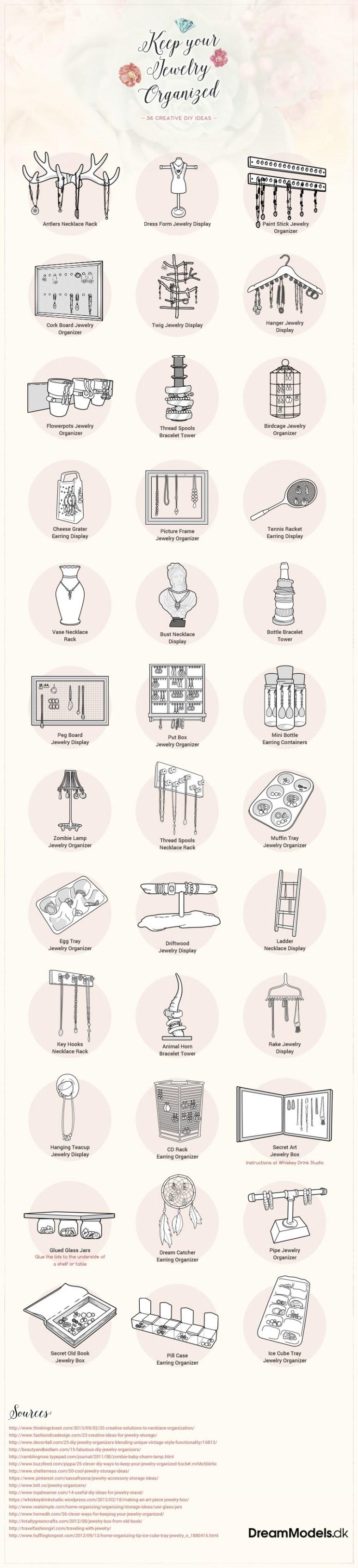 keep your jewelery organized