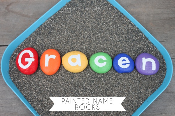 painted name rocks