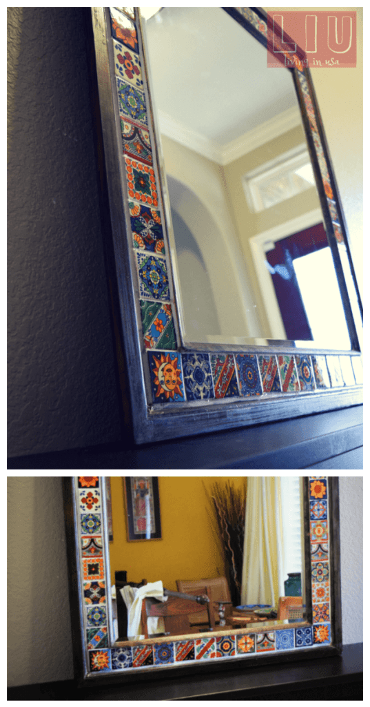 Tiled mirror DIY wall mirrors