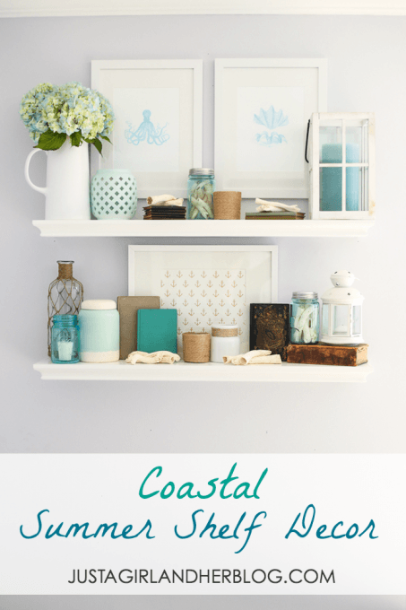 Coastal Summer Shelf Decor