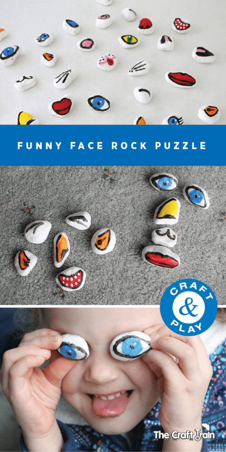 DIY rock puzzle for kids to have fun