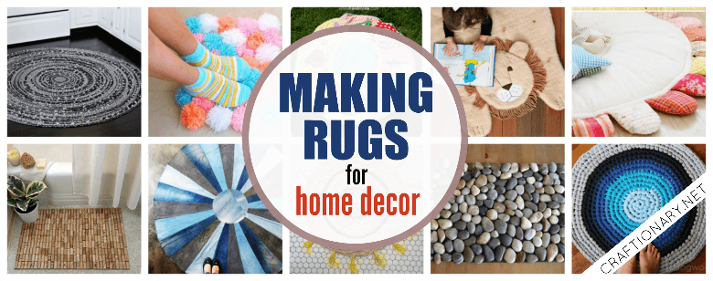 DIY making rugs with tutorials