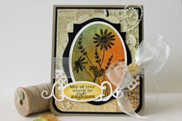 Bleached effect greeting card