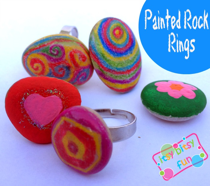 painted rock rings