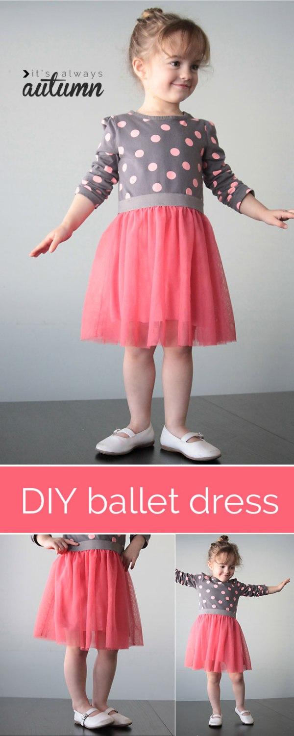 Ballet dress - how to sew tulle skirt tshirt?