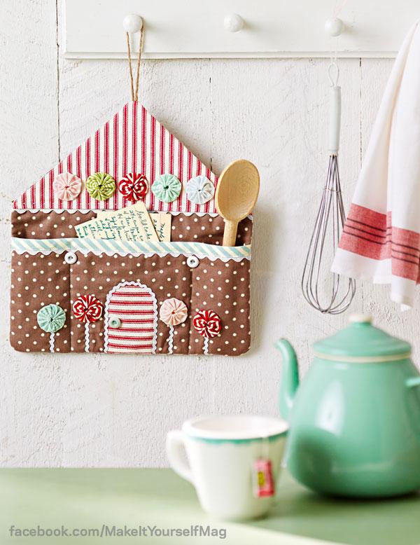 Handmade fabric gingerbread house