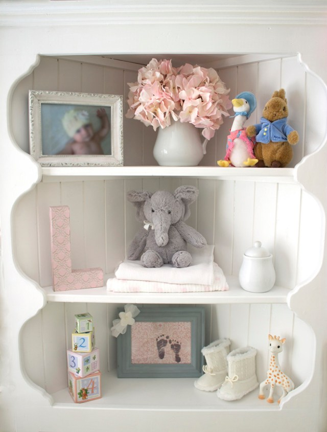 lily's budget nursery shelf