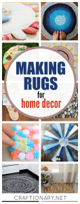 Making rugs in creative ways with tutorials for home decor at craftionary.net