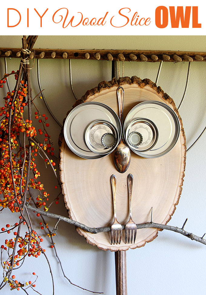 diy-Wooden-log-slice-owl-decor