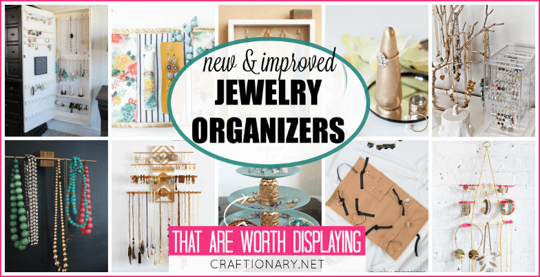 DIY jewelry organizers at craftionary.net