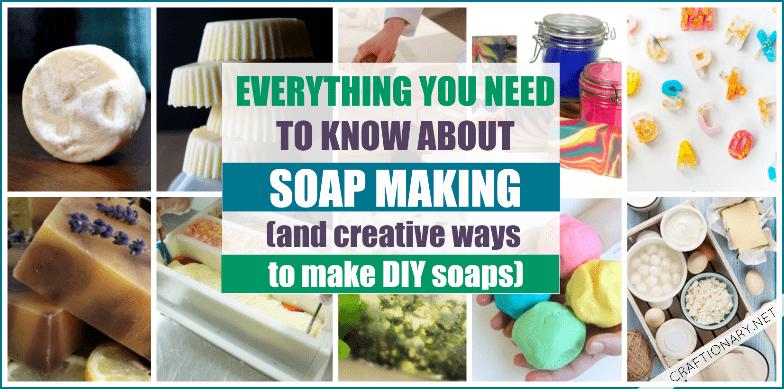 DIY soap making techniques and cold process tutorials