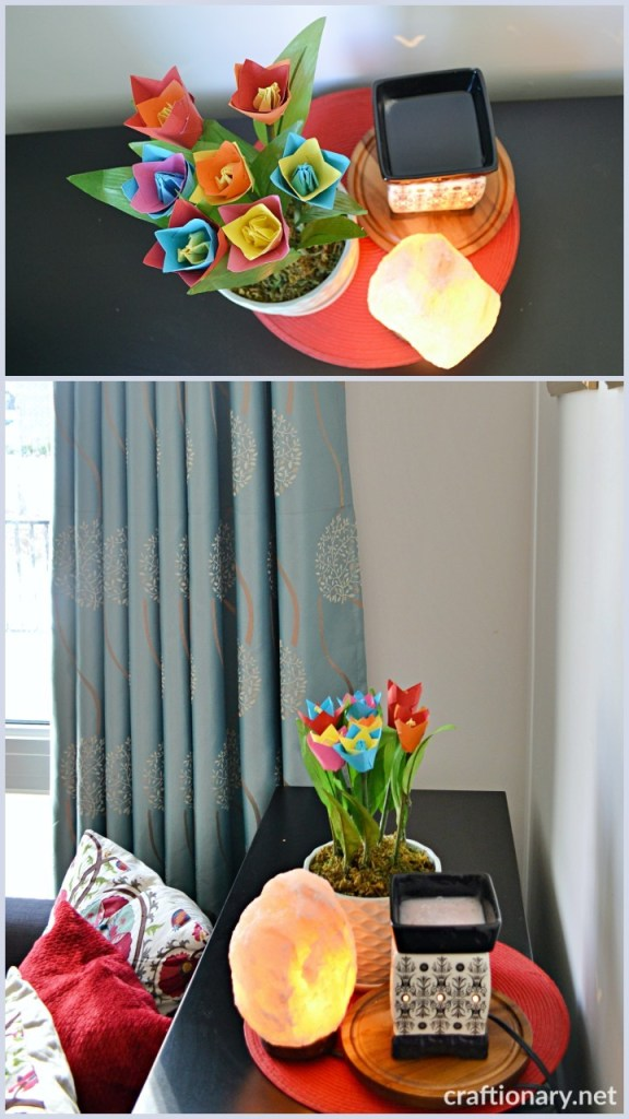 decorate-with-paper-tulips-in-home-flower-craft