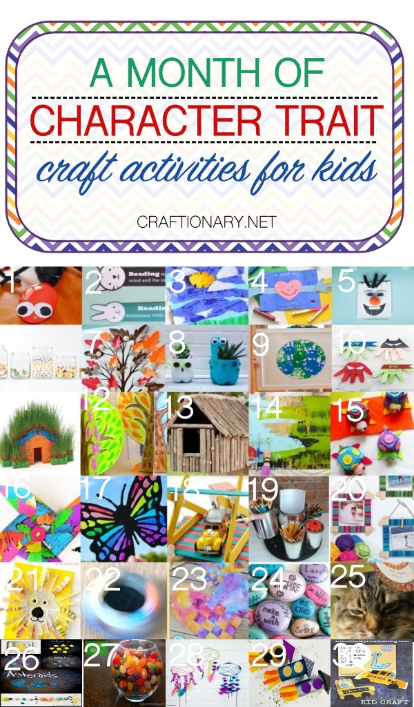 Character Trait Crafts Activities For A Month With Kids Craftionary