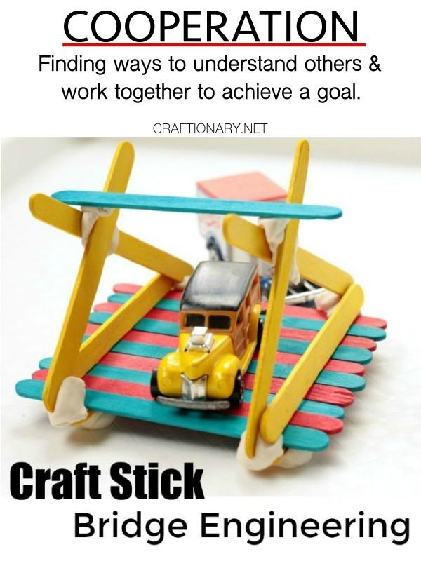 cooperation-craft-stick-bridges-character-trait-crafts-activities