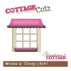 The Scrapping Cottage – CottageCutz Window With Canopy Shape