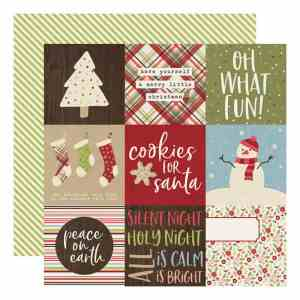 Simple Stories – Holly Jolly 4×4 Elements 12×12