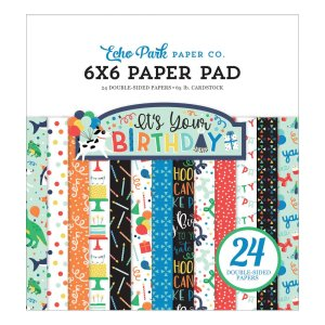 Echo Park – It's Your Birthday Boy 6×6 Paper Pad