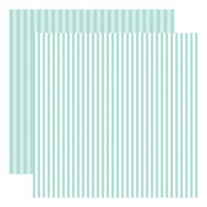 Echo Park Dots & Stripes – Blueberry Stripe