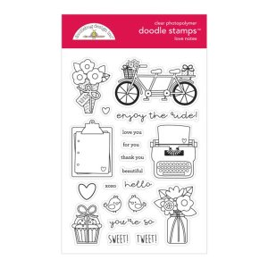 Timbro Doodlebug Design – Love Notes Doodle Stamps