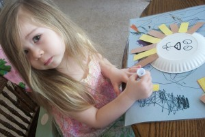 Paper Plate Lion Mane 300x201 Spring In Like a Lion & Out Like a Lamb Craft Project for Kids