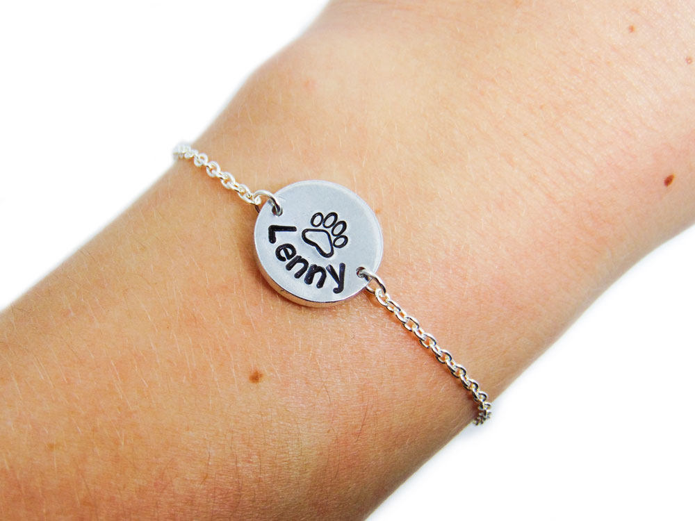 personalized memial remembrance etsy bracelet pet bracelets memorial