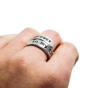 Forever in my heart wrap around ring
