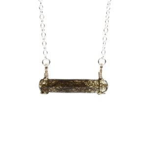 Sterling silver cremation necklace